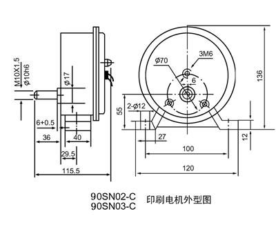 120sn010-c型适用于埋弧焊机头并可配有双驱动送丝